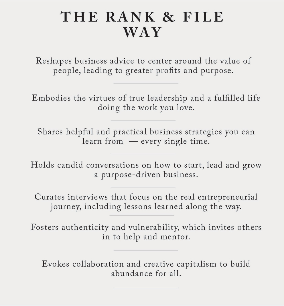 Why Rank & File is a Different Business Magazine