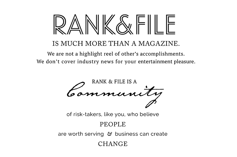Rank & File Magazine Mission Statement and Manifesto