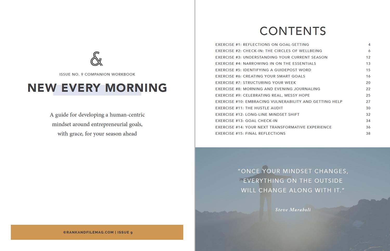 "Issue Nine ""New Every Morning"" Workbook"
