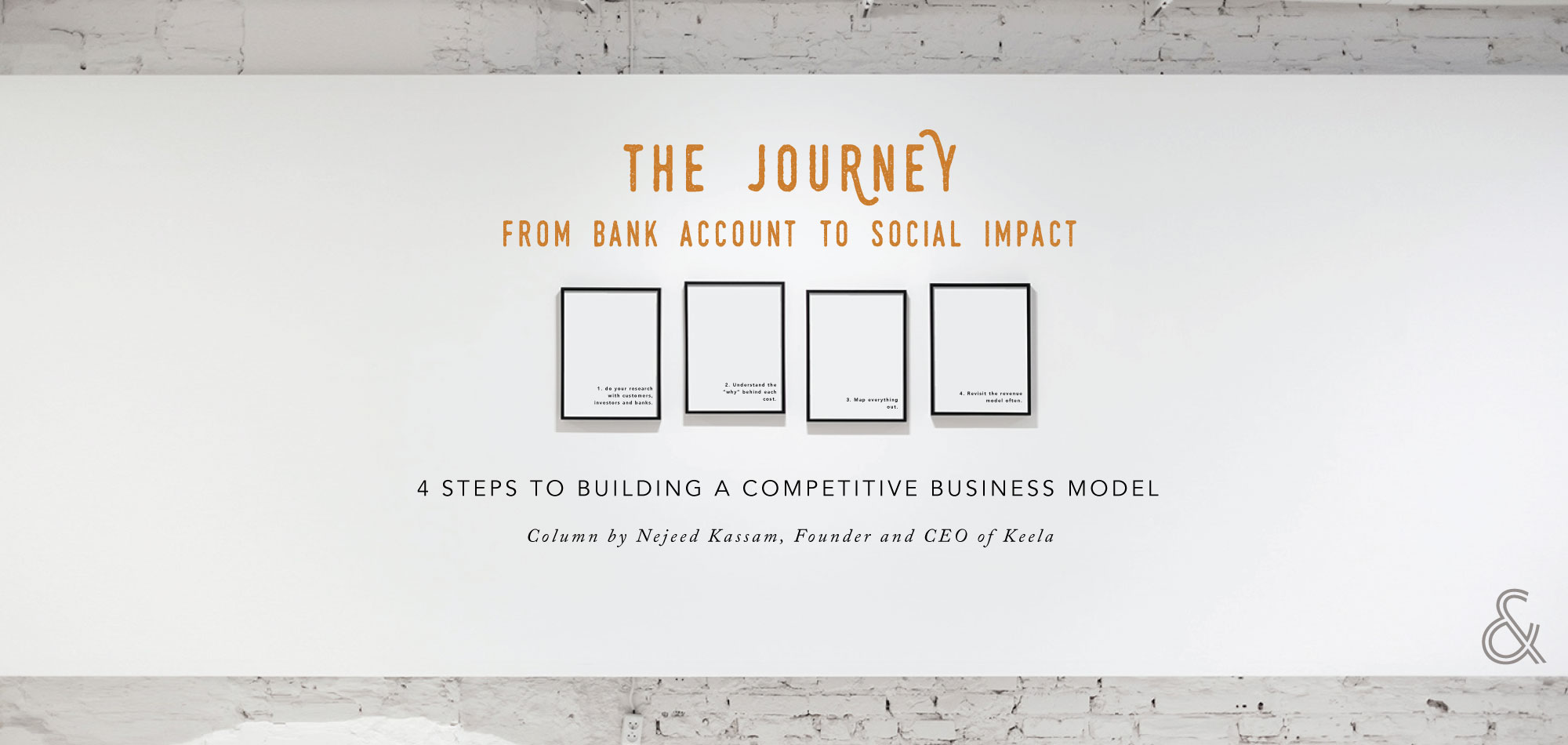 The Journey from Bank Account to Social Impact: 4 Steps to